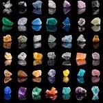 Collection set of semi-precious gemstones — Stock Photo #44482885