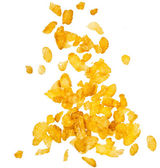 Corn flakes falling — Stock Photo