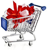 Shopping basket cart — Stock Photo