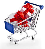 Shopping basket cart — Photo