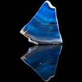 A slice of blue agate crystal — Stock Photo