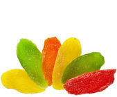Colorful candied fruit — Stock Photo