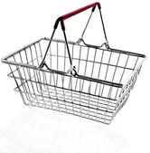 Wire shopping basket — Stockfoto