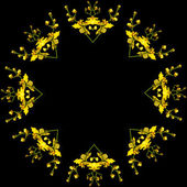 Frame ornament pattern of Bright Yellow Oncidium Orchid — Zdjęcie stockowe