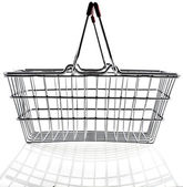 Wire shopping basket — Photo