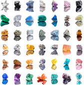Collection set of semi-precious gemstones stones and minerals — Stock Photo
