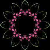 明るいオーキッドのフレームのパターン — ストック写真