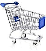 Shopping basket cart — Stock Photo