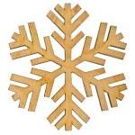 Christmas snowflake shape decoration — Stock Photo