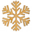 Christmas snowflake shape decoration — Stock Photo
