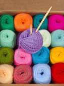 Wool knitting yarn — Stock Photo