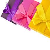 Renkli hediye kutuları — Stok fotoğraf
