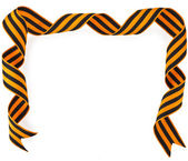 Frame of black orange strip — Stockfoto