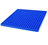 Blue Kitchen silicone placemat — Stock Photo
