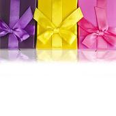 Coffrets cadeaux colorés — Photo