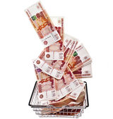 One Million Russian Banknotes Rubles — Stock Photo