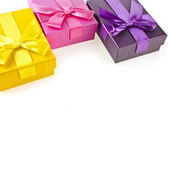 Colorful gift boxes — Stock Photo