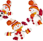 Happy snowman set — Stock Photo