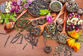 Assortment variety tea — Stock Photo