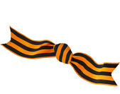 Black orange strip bow — Stock Photo