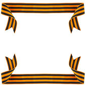 Frame of black orange strip bow — Stock fotografie