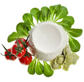 Ricotta Cheese with spinach — Stock Photo