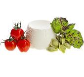 Ricotta Cheese with tomato — Stock Photo