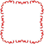 Frame decor of ribbon tape — Stock Photo