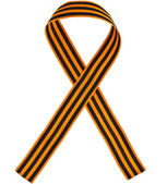 Black orange strip bow — Stock fotografie