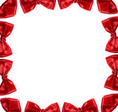 Abstract frame of red bow — Stock Photo
