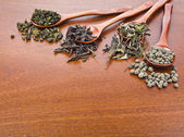 Assortment set of dry tea — 图库照片