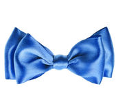 Blue bow tie — Stock Photo