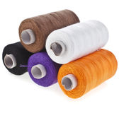 Colorful bobbin thread set — Stock Photo