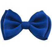 Blue ribbon bow tie — Stock Photo