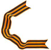 Black orange strip bow — Stockfoto