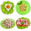 Постер, плакат: Tasty nutritious meals on a plate