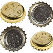 Collection set of beer bottle caps — Stock Photo #50788371