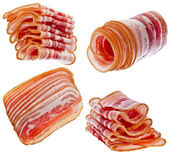 Collection set of Bacon Slices — Stock Photo