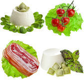 Heap of fine delicious snacks foods — Stock Photo