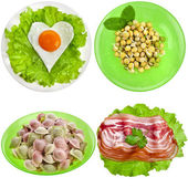 Tasty nutritious meals on a plate — Stock Photo