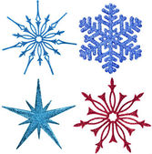 Snowflake ornament decoration — Stock Photo