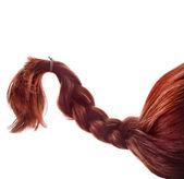 Natural hair braided — Stock Photo