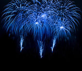 Blue colorful fireworks — Stock Photo