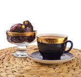 Ramadan eastern  drink with dates — Stock Photo
