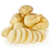 Skinless young potato tuber — Stock Photo