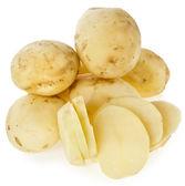 Skinless young potato tuber — Stock Photo
