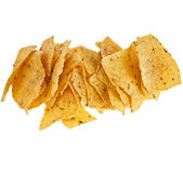 Heap of tortilla nachos chips — Stock Photo