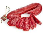 Hungarian smoked sausage with paprika — Stock Photo
