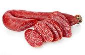 Hungarian smoked sausage with paprika — Stok fotoğraf