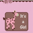 It's a girl giraffe - Stock Photo